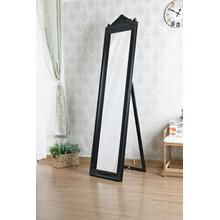 7055 BLACK Full Length Standing Crown Mirror