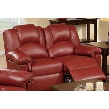 Izem Reclining/Motion Loveseat Sofa or Recliner, Burgundy-bonded-leather, Motion-loveseat