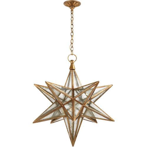 Visual Comfort CHC5212GI-AM E. F. Chapman Moravian Star 1 Light 30 inch Gilded Iron Pendant Ceiling Light