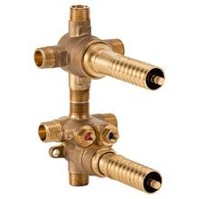2-Handle Thermostatic Rough Valve with 3-Way Diverter - Shared Functions - No Finish