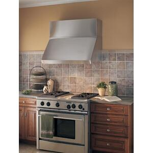 "Centro - 48"" Stainless Steel Pro-Style Range Hood with 300 to 1650 Max CFM internal/external blower options"