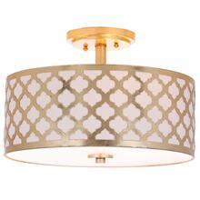 Kora 3 Light 15-inch Dia Gold Flush Mount - Gold