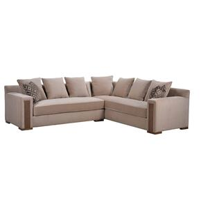 Prossimo Divano Crema Sectional Sofa with Bookcase
