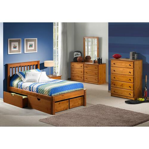 Innovations Furniture - Laguna Twin Platform Bed in Pecan  (under drawer unit sold separately)       (INN-LAGT)