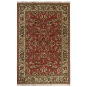 Agra Red Rectangle 8ft 8in X 12ft