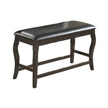 8718 GRAY Cushion Counter Height Bench