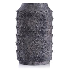 Binani Charcoal  16in x 9in Decorative Concrete Vase