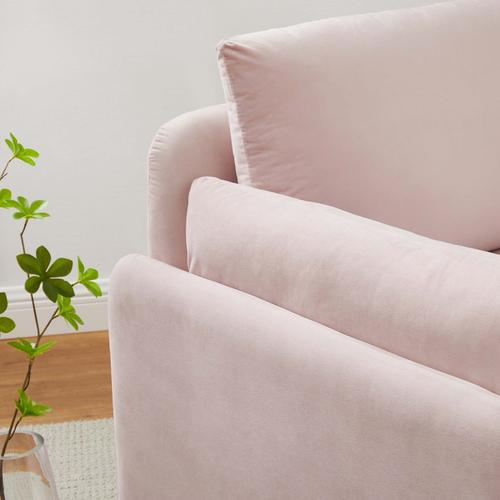 Modway - Indicate Performance Velvet Armchair in Pink