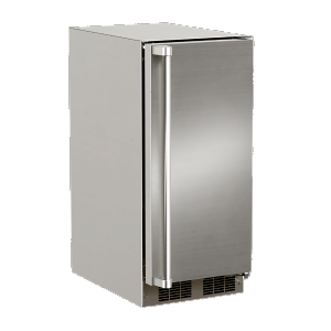 Marvel15-In Outdoor Built-In Clear Ice Machine With Factory-Installed Pump with Door Style - Stainless Steel