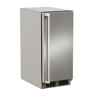 15-In Outdoor Built-In Clear Ice Machine With Factory-Installed Pump with Door Style - Stainless Steel