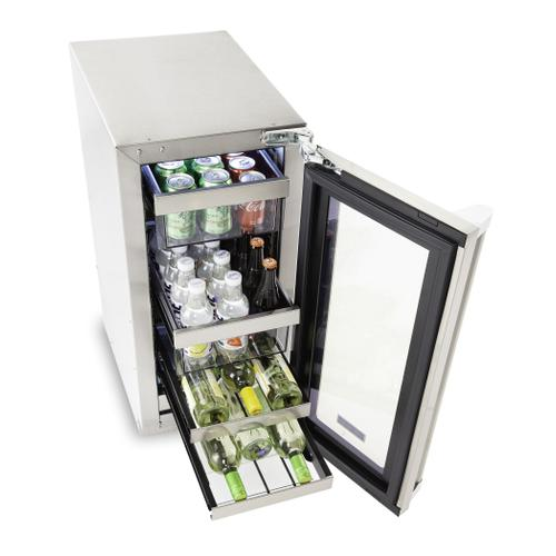 "15""W. Stainless Steel Interior Undercounter Beverage Center - VUBV"