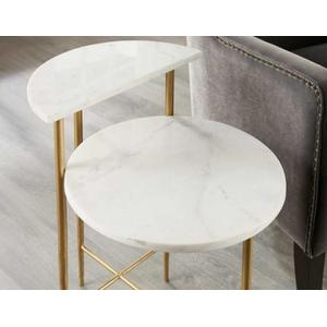 Patna White Marble Top Table
