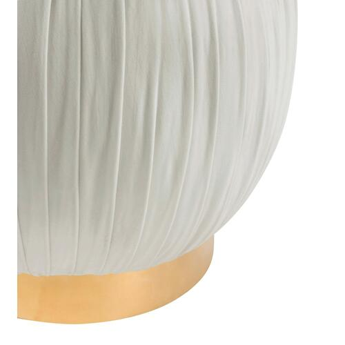 Tulip Cream Velvet Ottoman