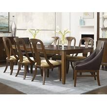 Skyline Leg Dining Room & Sling Back & Leather Club Chairs