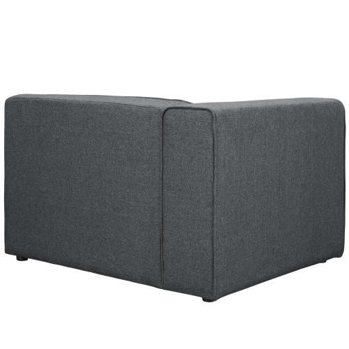 Mingle Fabric Left-Facing Sofa in Gray