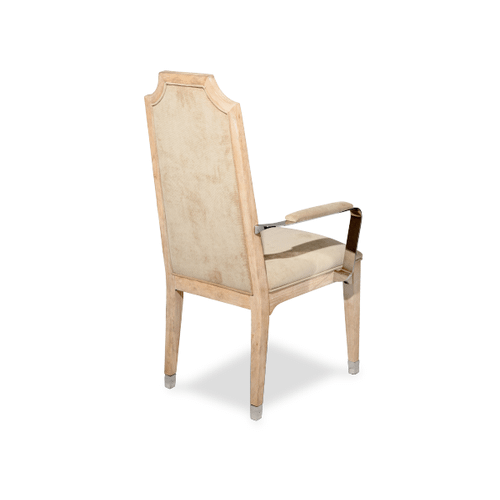 Biscayne West Arm Chair w/Stainless Steel Arm Sand