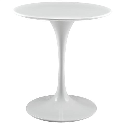 "Lippa 28"" Round Wood Top Dining Table in White"