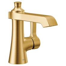 Flara Brushed gold one-handle high arc bathroom faucet