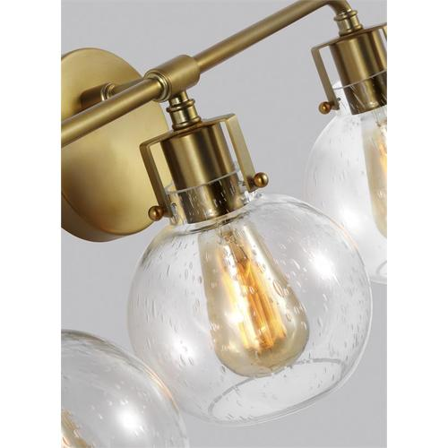 Clara 3 - Light Vanity Burnished Brass