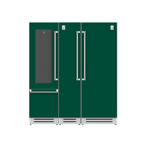 "Hestan - 72"" Wine Refrigerator (L), Column Freezer and Refrigerator ® Ensemble Refrigeration Suite - Grove"