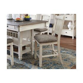 Bolanburg Upholstered Barstool  Antique White