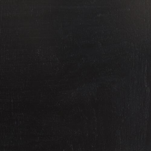 Metro 120 Tv Stand - Black Wood, Black Glass, Black Metal