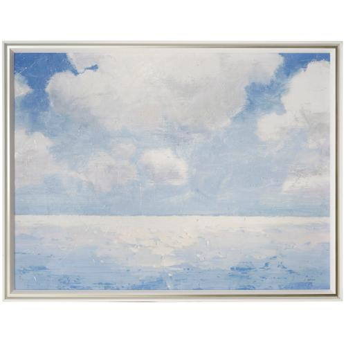 Style Craft - SPARKLING SEA  51in w X 39in ht  MADE IN USA  TEXTURED FRAME PRINT