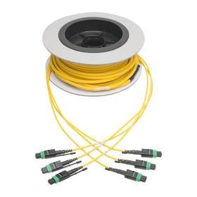 MTP/MPO (APC) Singlemode Slim Trunk Cable, 24-Strand, 40/100 GbE, 40/100GBASE-PLR4, Plenum, 6mm Dual Jacket, 15 m (49 ft.)