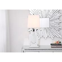 Sparkle Collection 1-Light Clear Crystal Table Lamp