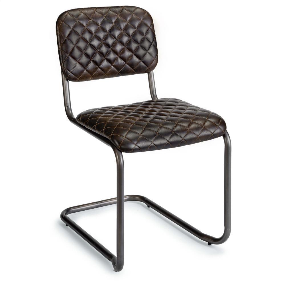 See Details - Jaxon Armless Chair (java Black Leather)