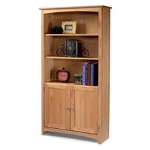 Alder Bookcase 30 X 72 with Doors