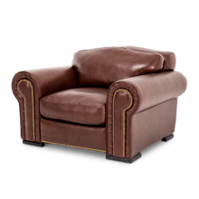 Leonardo Leather Chair in Cordovan Espresso