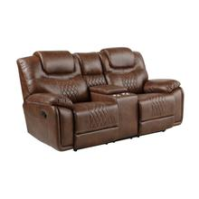 Boardwalk Manual Reclining Console Loveseat