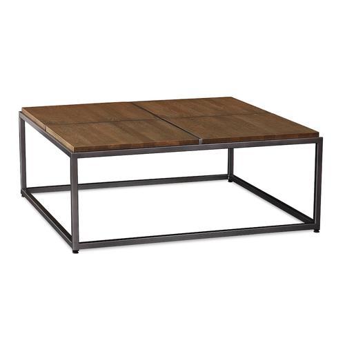 Bassett Furniture - Midtown Oak Large Square Cocktail