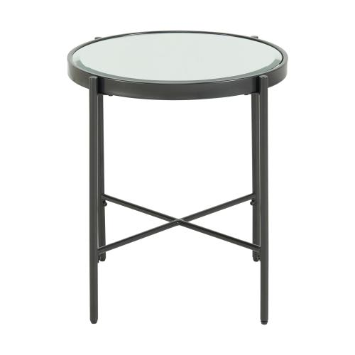 Vienna Round End Table with Glass Top