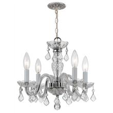 Traditional Crystal 4 Light Cl ear Spectra Crystal Chrome Min i Chandelier