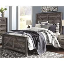 Wynnlow Queen Crossbuck Panel Bed Gray