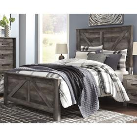 Wynnlow Queen Crossbuck Panel Bed Gray