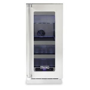 "Viking15""W. Stainless Steel Interior Undercounter Refrigerator - VURE"