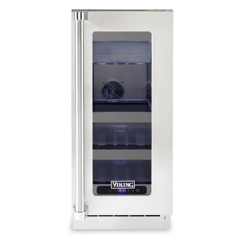 """15""""W. Stainless Steel Interior Undercounter Refrigerator - VURE"""