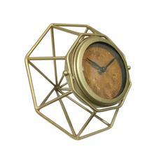 "Metal 5""h Abstract Table Clock, Gold"