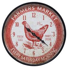 Farmers Market Red Wall Clock