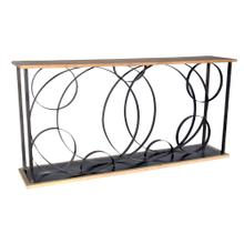 Tyson Metal and Wood Ring Console Table