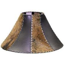 View Product - Lamp Shade Leather/Cowhide