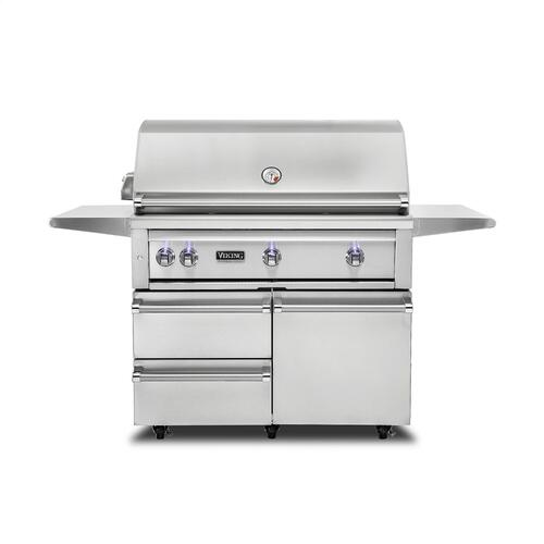 "42""W. Freestanding Grill with ProSear Burner and Rotisserie - VQGFS5421"