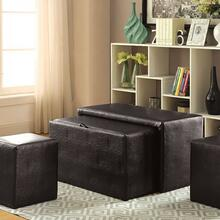 Ellie Storage Bench, Espresso Leatherette