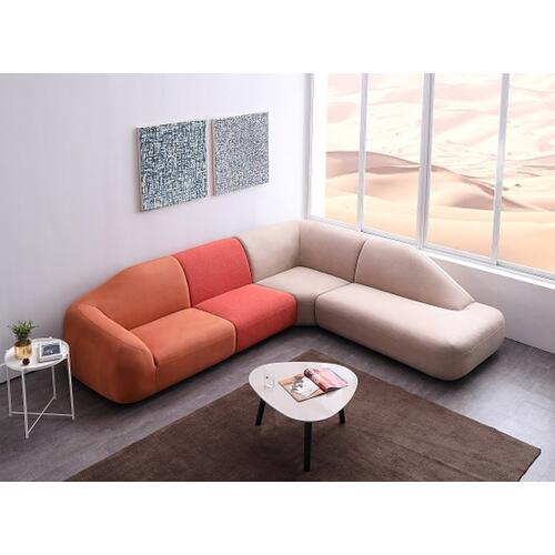 Divani Casa Sahara Modular Fabric Sectional Sofa