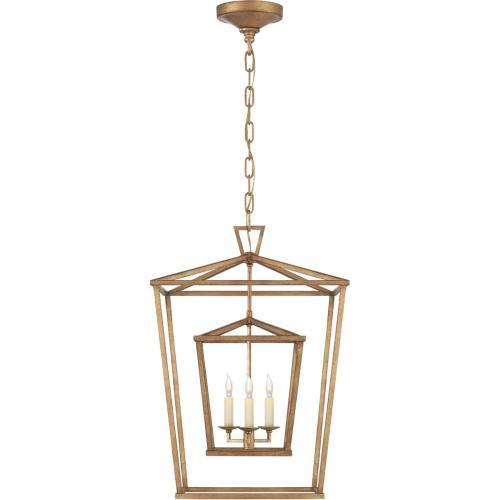 Visual Comfort CHC2178GI E. F. Chapman Darlana 3 Light 17 inch Gilded Iron Foyer Lantern Ceiling Light