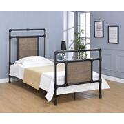 Elkton Bed - Twin, Matte Black Finish Product Image