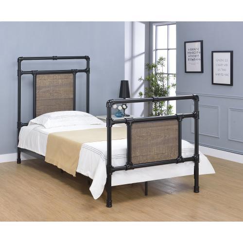 Elkton Bed - Twin, Matte Black Finish
